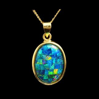 mosaic opal pendant 4148