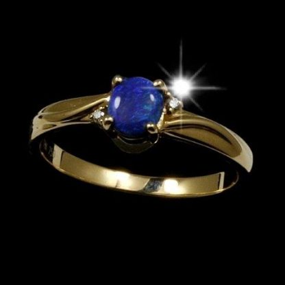 Black Opal Ring 5421