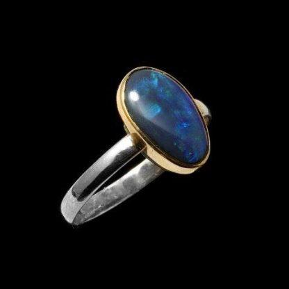 Black Opal Ring 5444