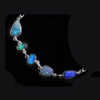 Boulder opal bracelet 6422