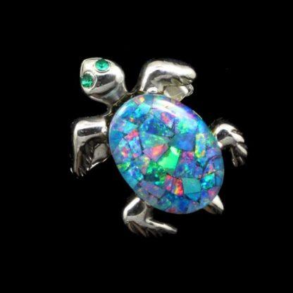 Opal Turtle Brooch pendant 6746