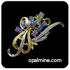 Opal Brooch 6708b