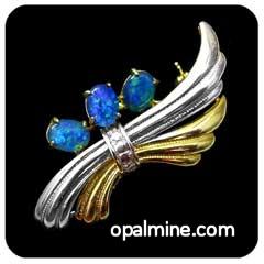 Opal Brooch 6704b