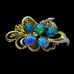 Opal Brooch 6709b